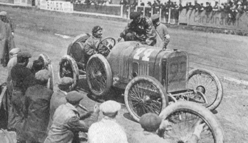 George Boillot 1912 beim GP de France auf Peugeot L 76