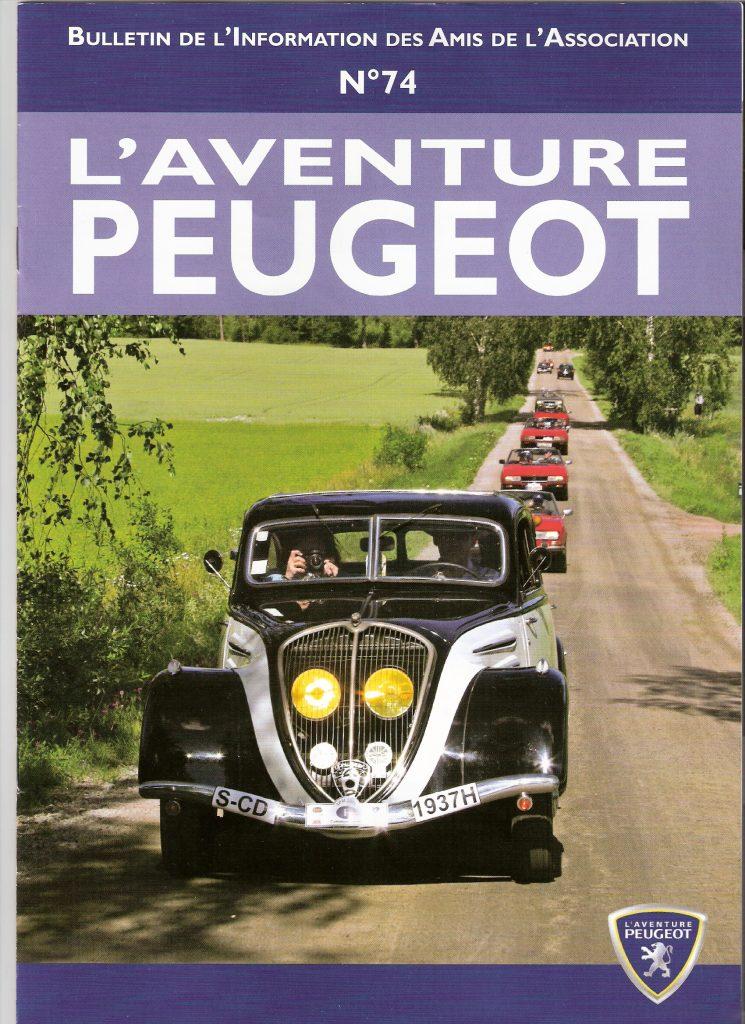 Peugeot Treffen Finnland - Titelbild der L'Aventure-Zeitschrift