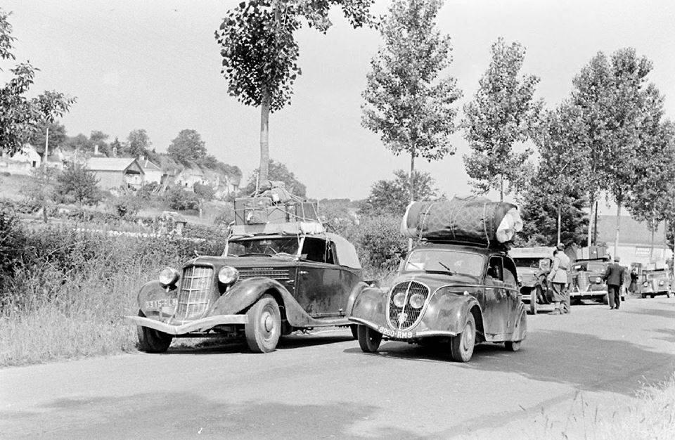 Peugeot Straßenszene 1940
