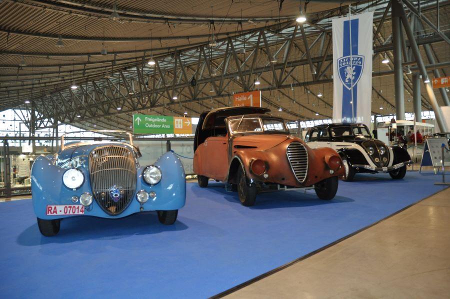 Messestand Peugeot Vorkriegs-Klassiker