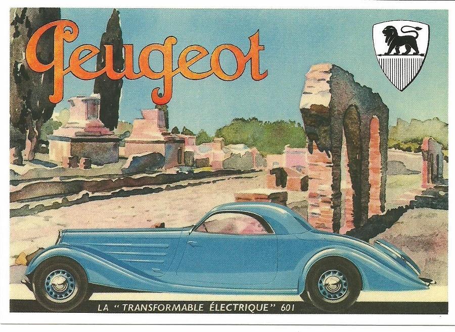 Werbeplakat Peugeot Typ 601 Eclipse