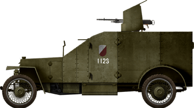 Peugeot 1914 AM der polnischen Armee in den 1920er Jahren