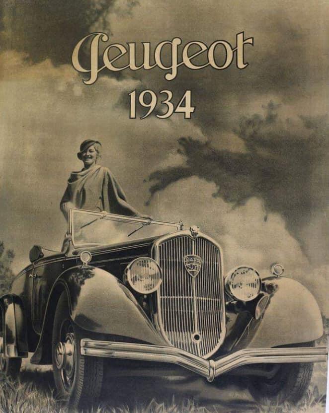 Peugeot Werbung 1934