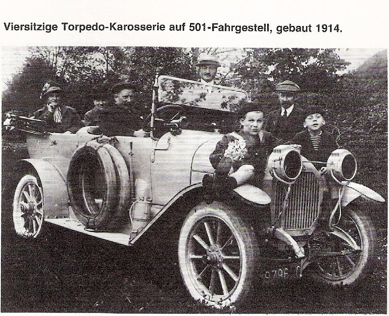 Peugeot 501-Fahrgestell mit Torpedo-Karosserie