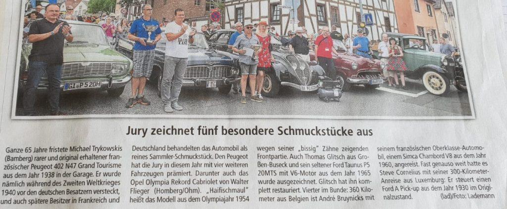 """Zeitungsausschnitt """"Jury zeichnet fünf besondere Schmuckstücke aus"""""""