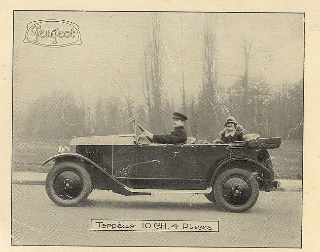 Offizielles Werbefoto aus dem Jahr 1927 - die Dame von Welt lässt sich immer noch fahren,