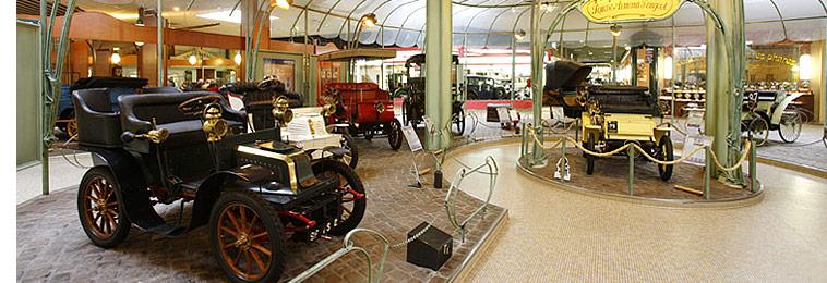 Blick in die Räume des Musee Peugeot in Sochaux