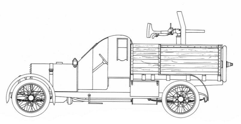 Schemazeichnung der ersten Version des 1914 AC