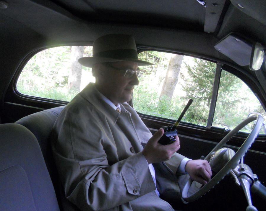 "Peugeot 203 am Filmset ""Die Holzbaronin"""