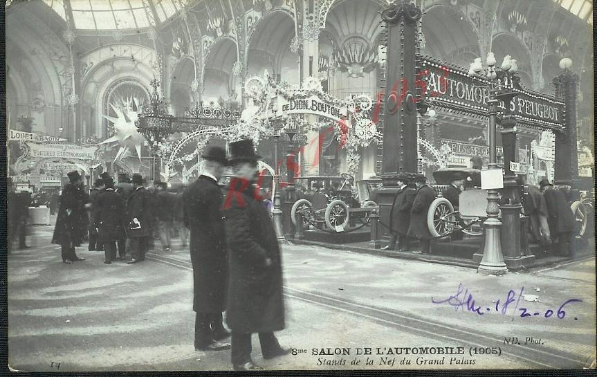 Peugeot-Stand 1905 - schon im Grand Palais