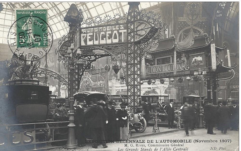Ausstellung von Automobilen auf dem Pariser Salon 1907