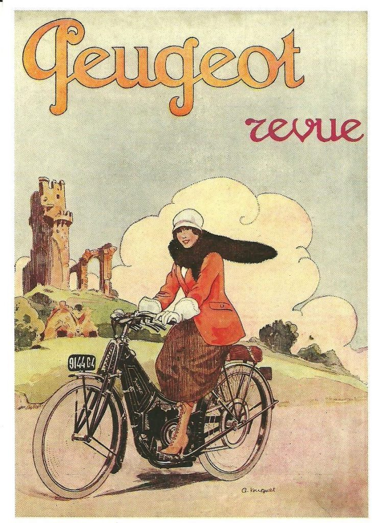 Peugeot Motorrad Zeitschriftenwerbung 1910