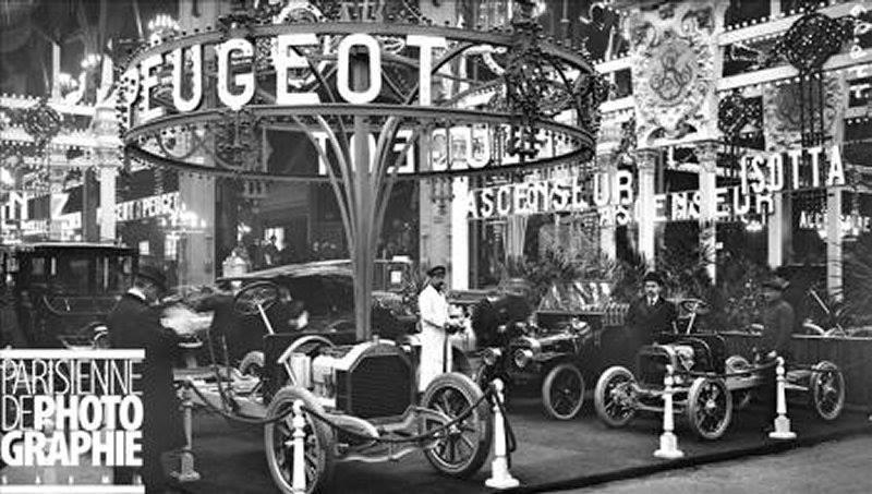 Ausstellung von Automobilen auf dem Pariser Salon 1910