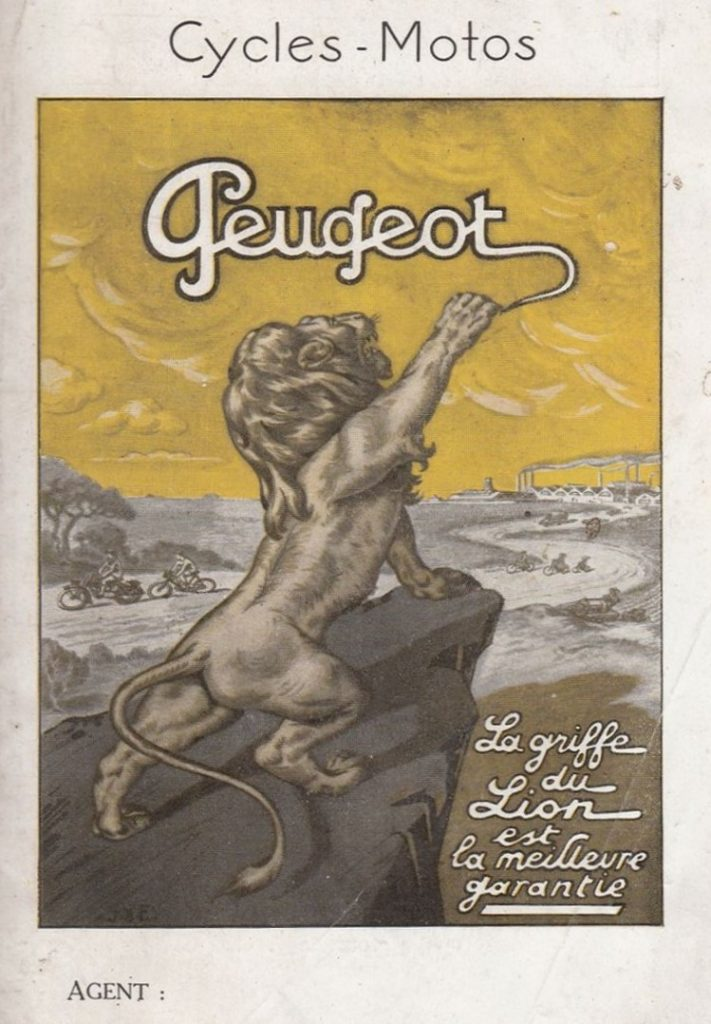 Peugeot Motorrad Zeitschriftenwerbung 1913/14