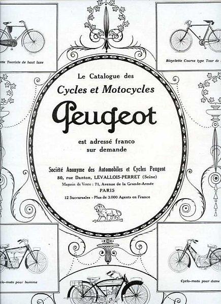 Peugeot Motorrad Zeitschriftenwerbung 1924
