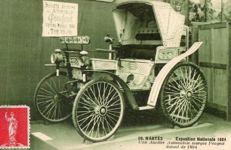 """1924 - Bei der Ausstellung in Nantes zeigte man """"Oldtimer"""" - hier den  Typ 4 """"Bey de Tunis"""","""