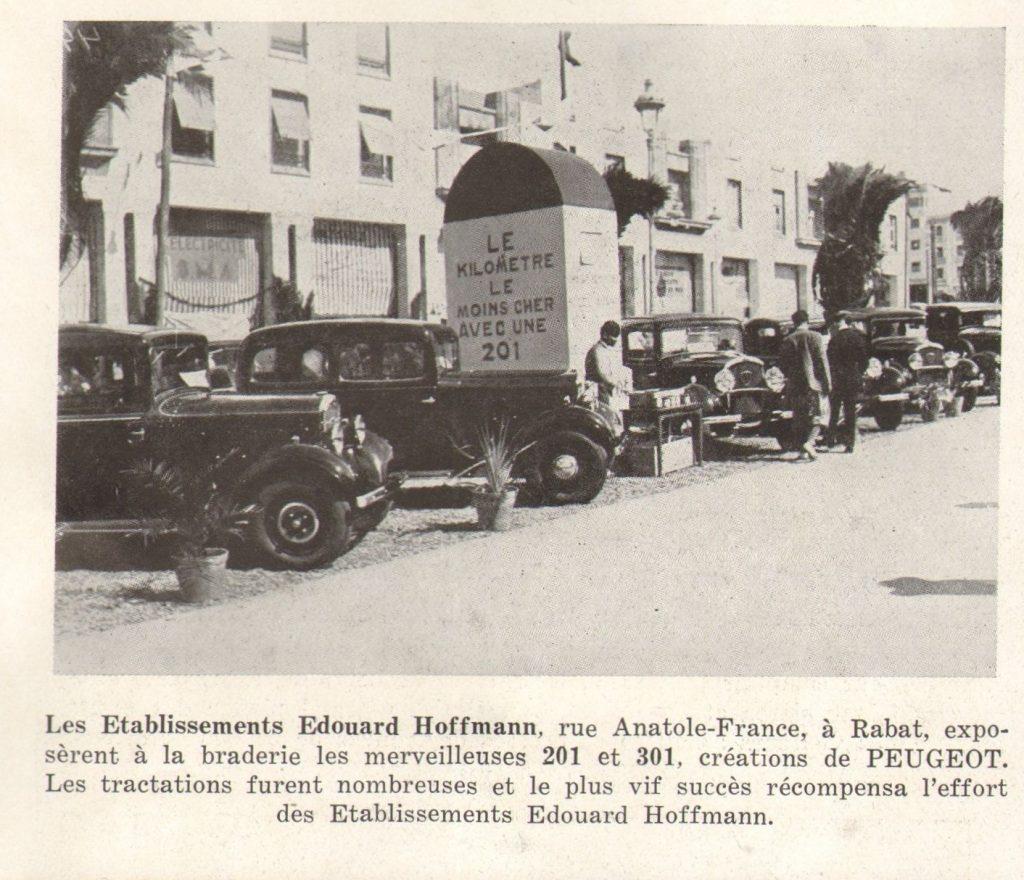 1931 werden 201 und 301 in Rabat (Marokko) gezeigt