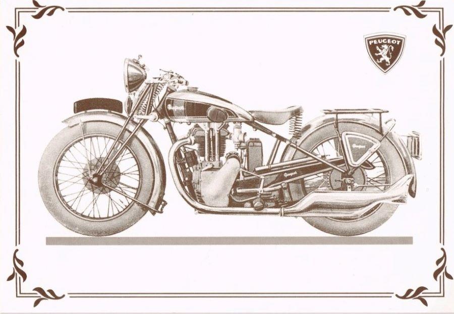 Zeitschriftenwerbung ca. 1933 für Peugeot Motorräder