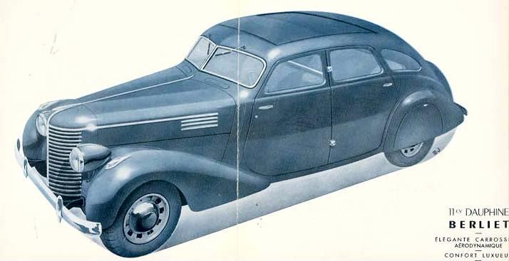 Prospekt Berliet 11 CV Dauphine