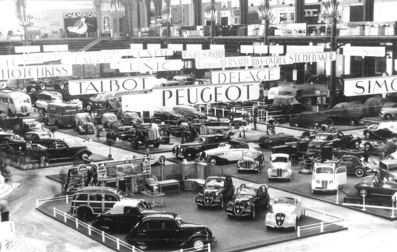 1948 - (von links nach rechts) 202 Canadienne, Cabrio, Berlinet, Cabrio, Decouvrable und noch ein Berlinet