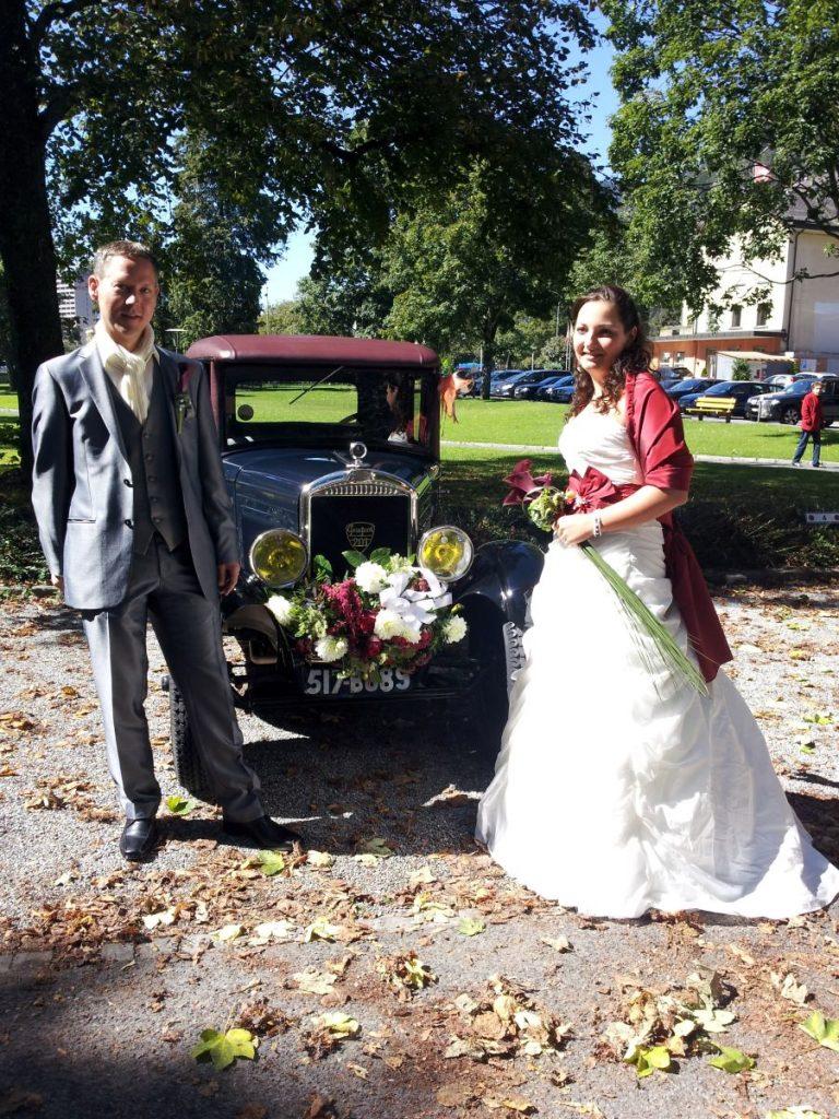 Hochzeit im Peugeot 201 aus dem Jahr 1929