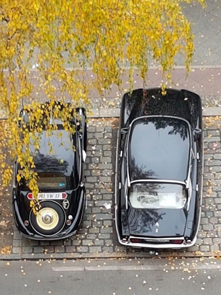 Größenvergleich - Peugeot 202 + Citroen DS