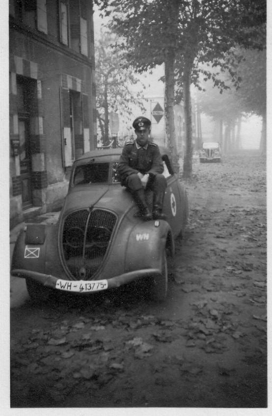 Peugeot 402 Cabrios wurde relativ selten eingesetzt