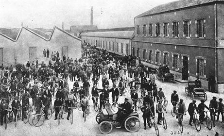 Peugeot Werk Audincourt: Schichtwechsel ca. 1895
