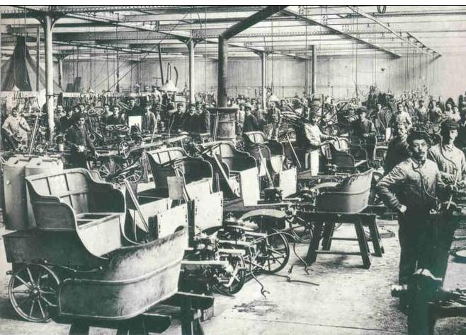 Peugeot Werk Audincourt: ca. 1900 - Karosseriefertigung / Stellmacherei
