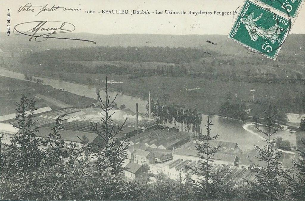 Peugeot Werk Beaulieu: Ansicht des Werkes im Jahr 1900