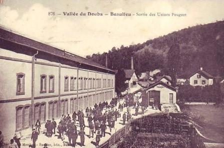 Peugeot Werk Beaulieu: Schichtwechsel ca. 1900