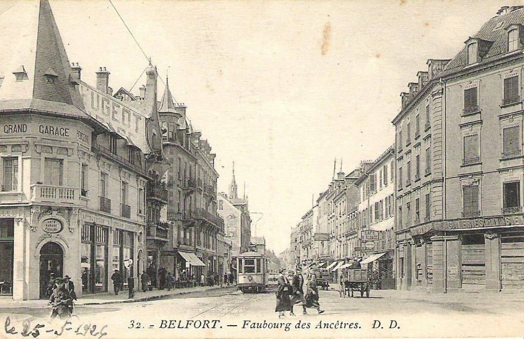 Wandwerbung in Belfort