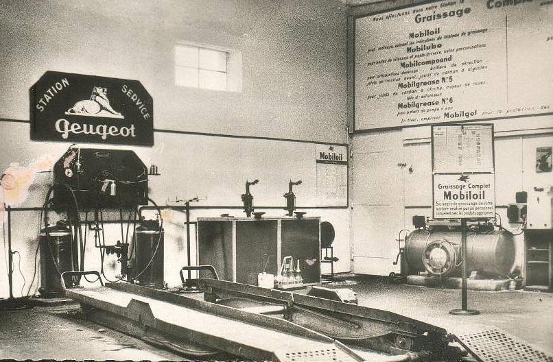Briey - Garage Bauer im Jahr 1954