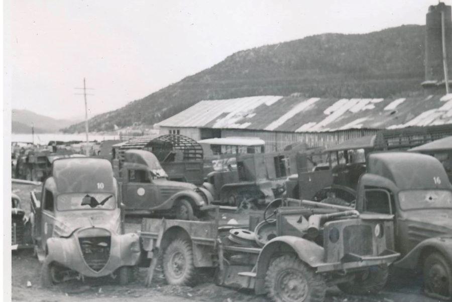 zerstörte Peugeot DK 5 in Norwegen