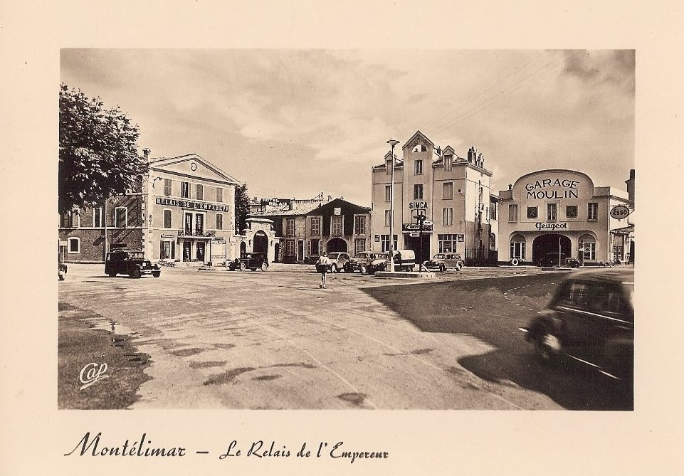 Montelimar - Garage Moulin etwa 1954