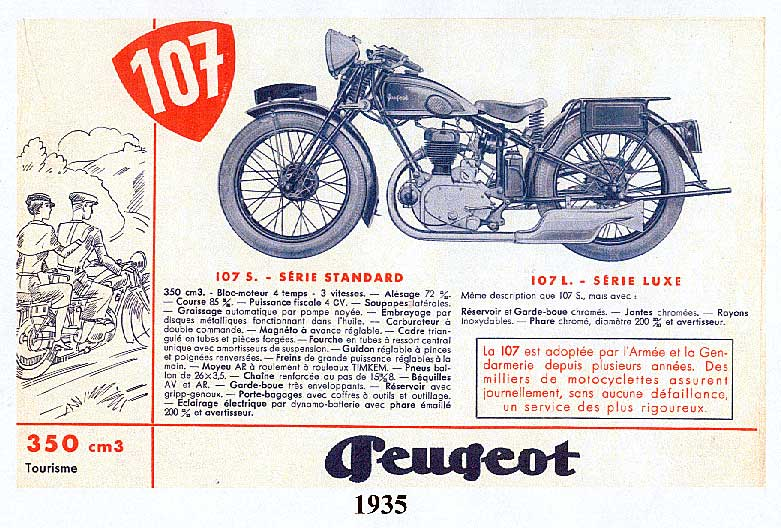 Anzeige Peugeot P 107