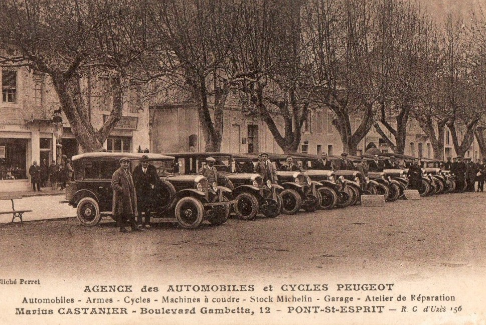 Pont St. Esprit - Garage M. Catanier, ca, 1925