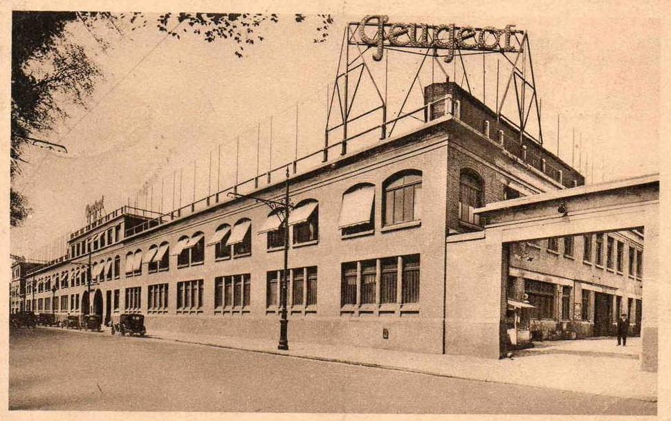 ca. 1929/1930 Peugeot Zentrale Paris - Die Hauptverwaltung
