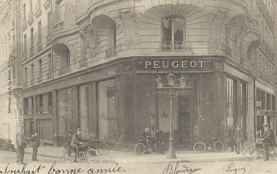 Paris - Magazin Peugeot, Carrefours des Acacias im Jahr 1904