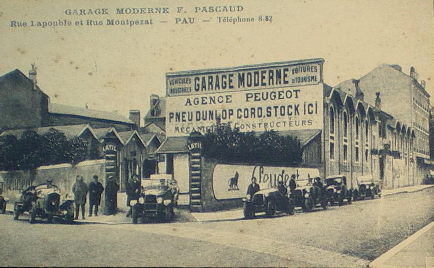 Pau - Garage Moderne F. Pasgaud. Das Angebot läßt auf Mitte der 1920er Jahre schließen