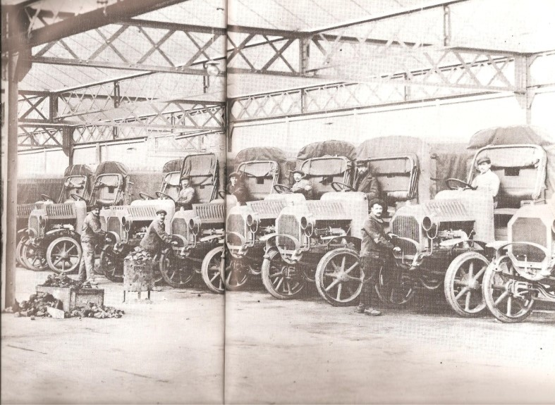 Peugeot Werk Sochaux: LKW-Bau ca. 1914