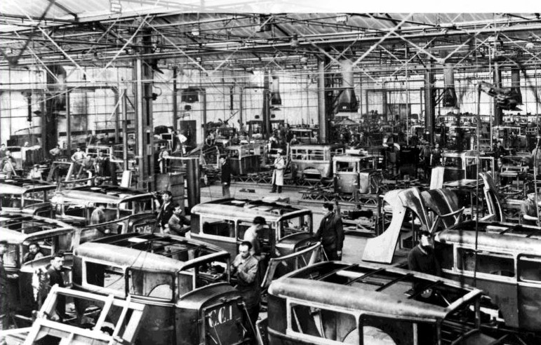 Karosserieproduktion Mitte der 1920er - vermutlich Typ 177 und 183