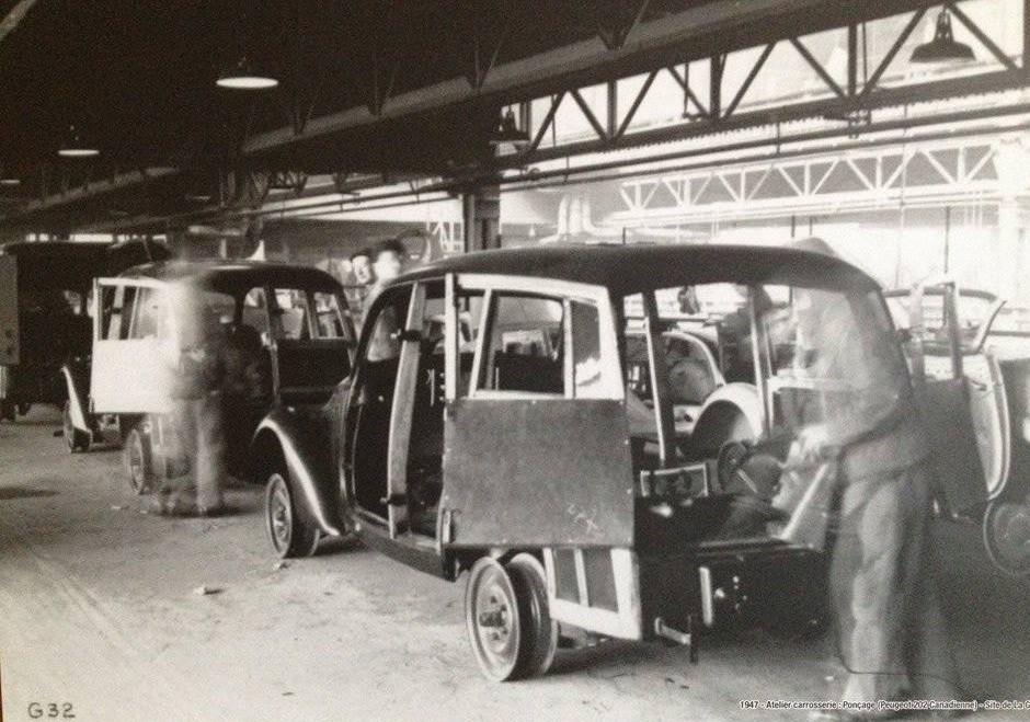 Peugeot Werk Sochaux: 1947 - Montage 202 Canadienne