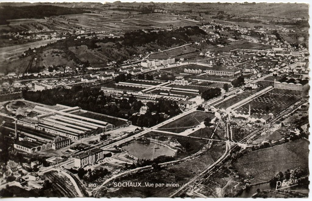 Das Werk Sochaux im Jahr 1953