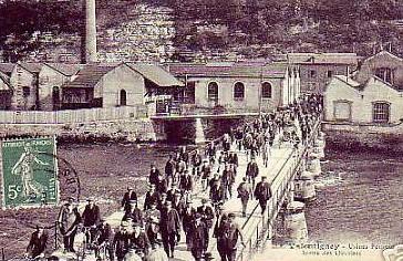 Peugeot Werk Valentigny: Schichtwechsel um 1900