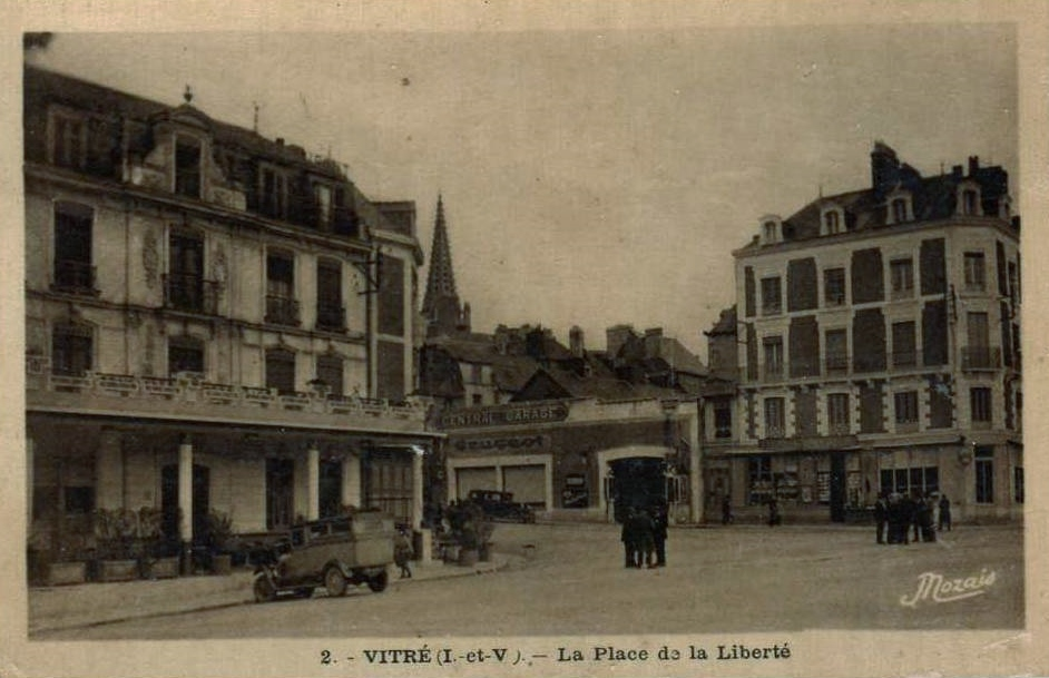 Peugeot Vertretung in Vitre ca. 1925