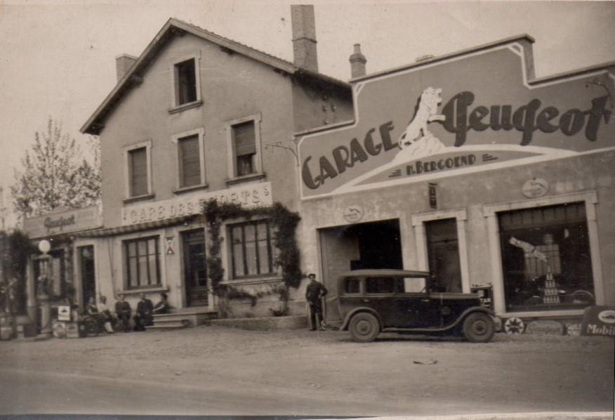 Garage Bercoerd in Voujacourt, etwa im Jahr 1935