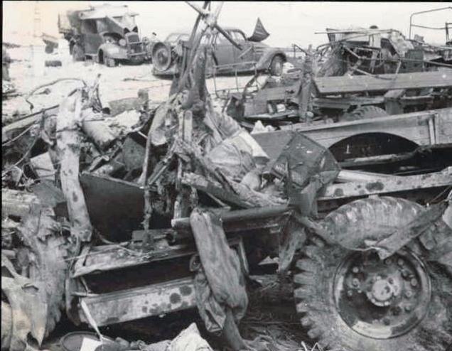 402 der französsichen Armee am Strand von Dünkirchen