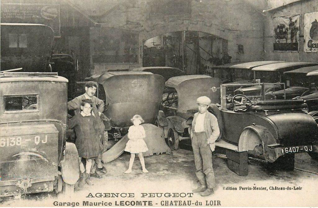Chateau-du-Loir - Garage Lecomte -  Werkstatt. Frühe 1920er Jahre