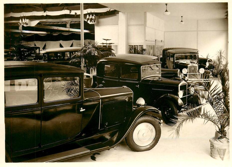 Verkaufsraum in La Roche sur Yon in den frühen 1930ern